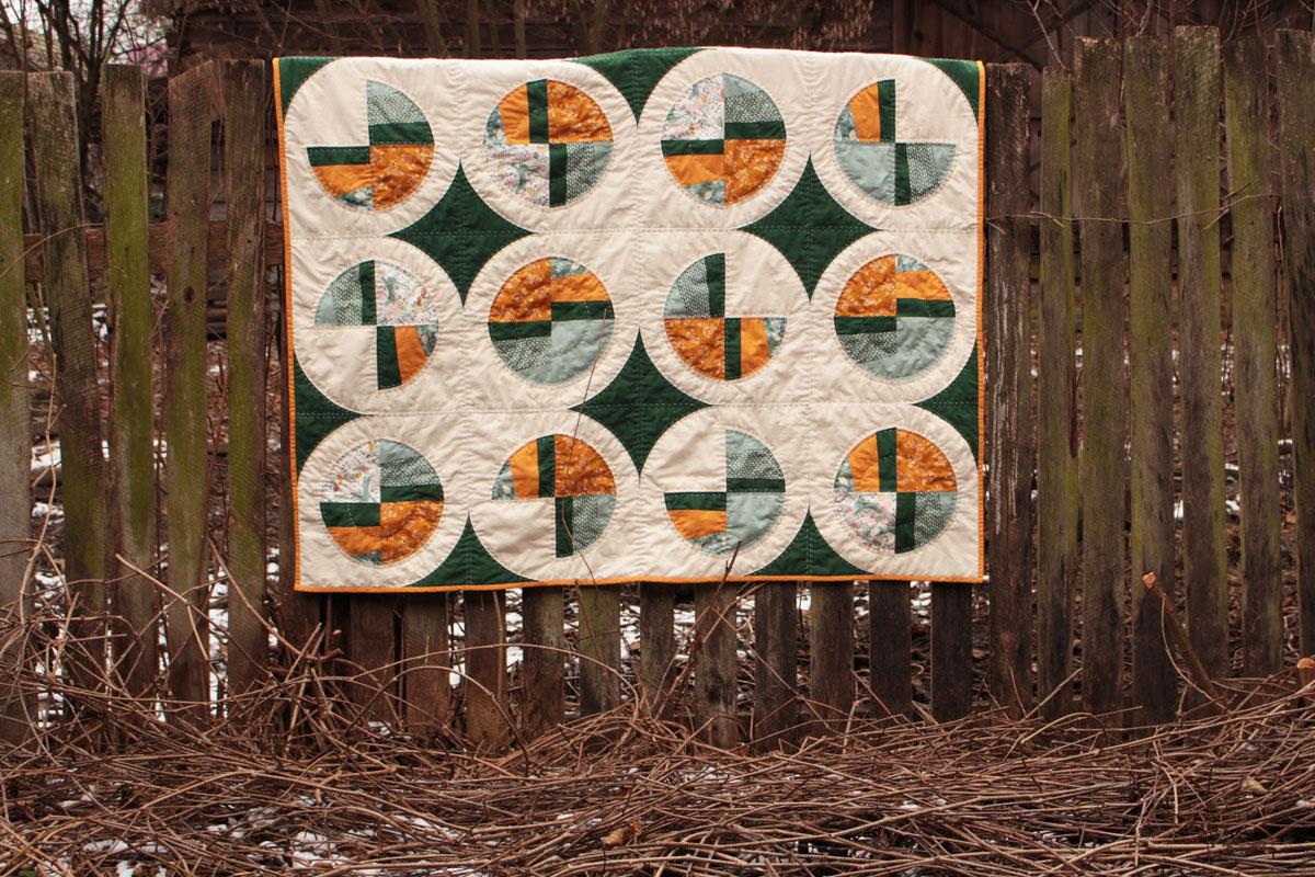 modern fans quilt