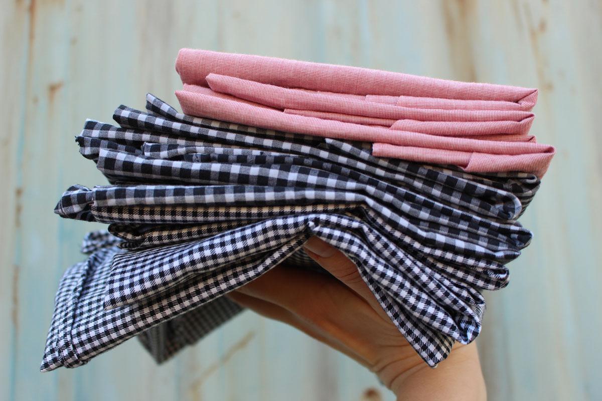 tkaniny z męskich koszul
